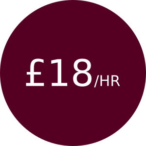 £18/hr for hours 6+