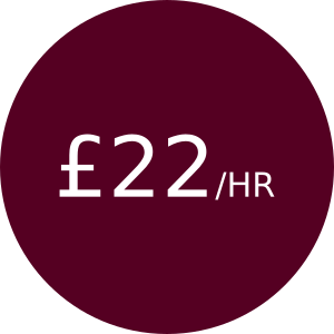£22/hr for hours 3 - 6