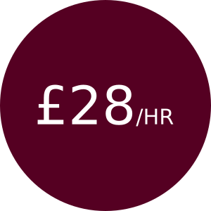 £28/hr for hours 0 - 3