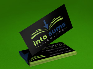 IntoSums Accounting Branding Design