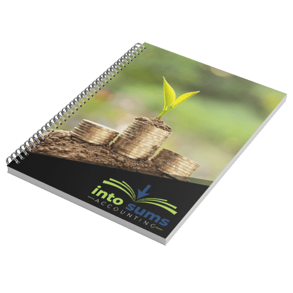 IntoSums Branded Business Notebook