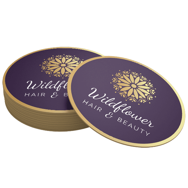 Wildflower Branded Promotional Coasters